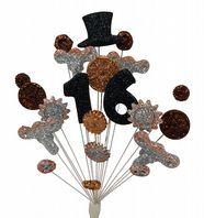 Steam punk 16th birthday cake topper decoration - free postage